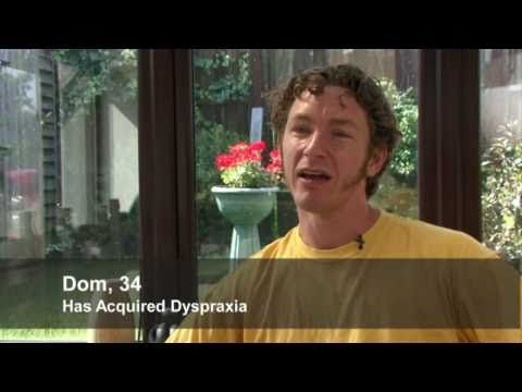 Example of acquired apraxia of speech (listed here at dyspraxia - example speech