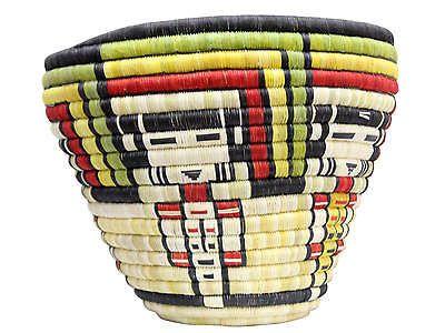 "Regina Kagenvema, Hopi Coiled Basket, Maidens with Rainbow, 10"" x 12 1/2"""