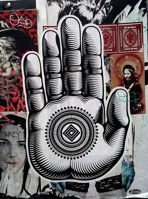 #StreetArt BUDDHA PALM | LINDEN ALLEY by CRYPTIK MOVEMENT, via Flickr