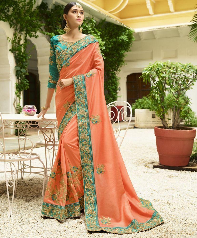 Sari wedding dress  Details about Indian Designer Saree Sari Traditional Indian