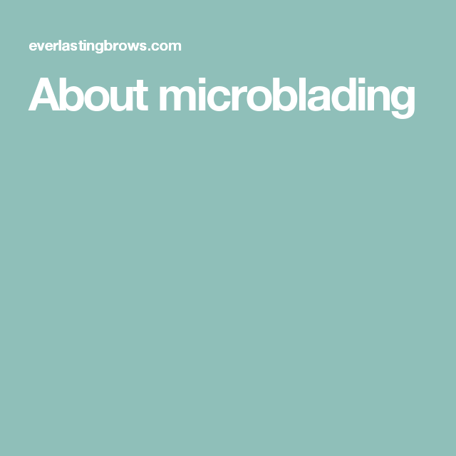 About microblading