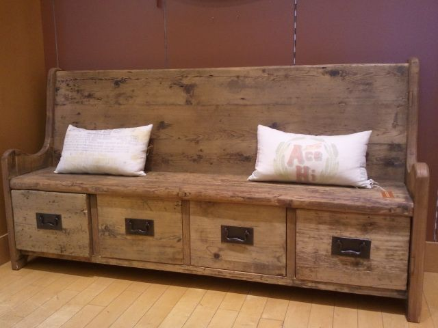 Stop Clutter At The Door And Provide Functional Seating Rustic Storage Bench High Back Dining Bench Storage Bench Seating