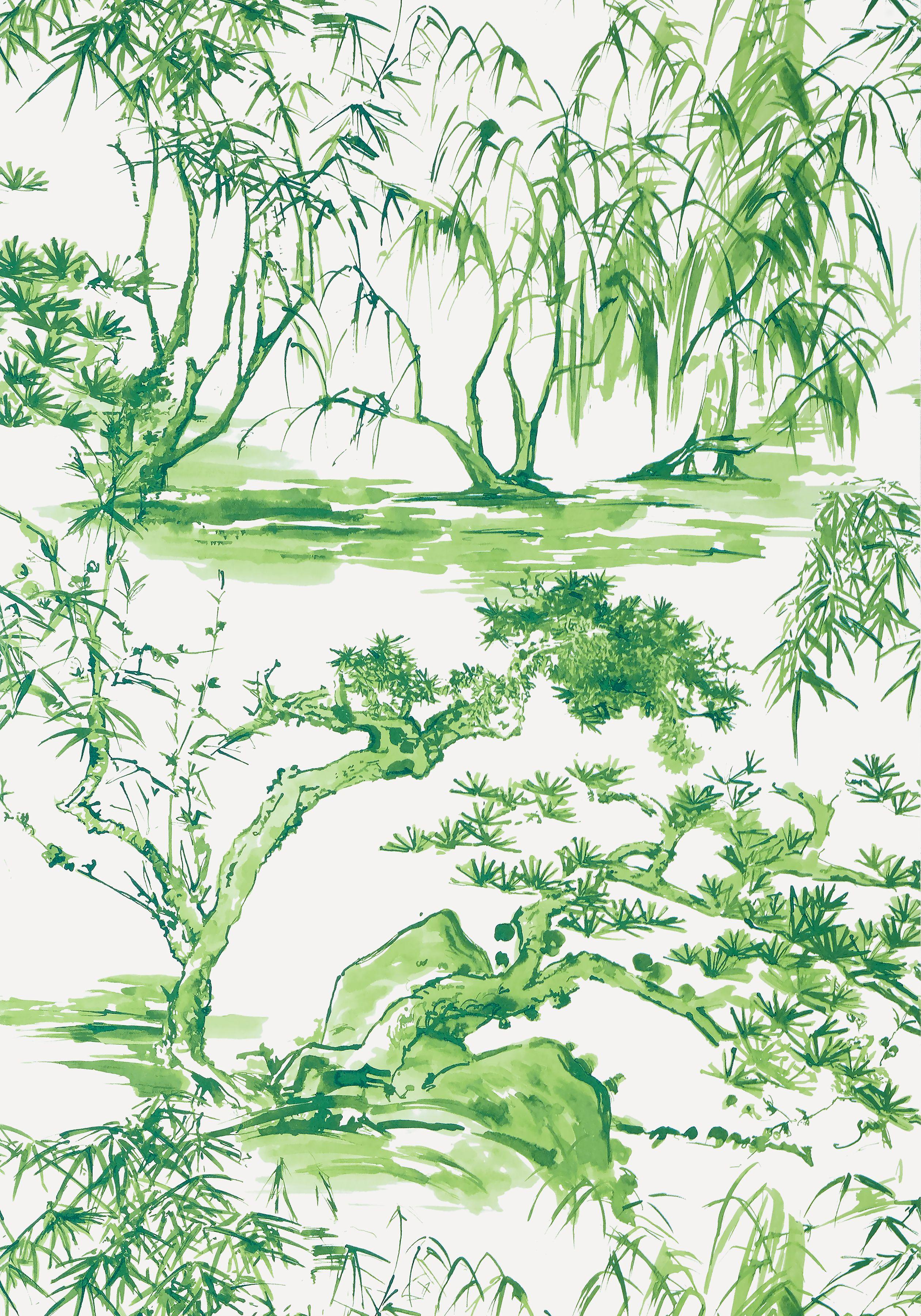 KYOTO, Emerald Green, AT9828, Collection Nara from Anna