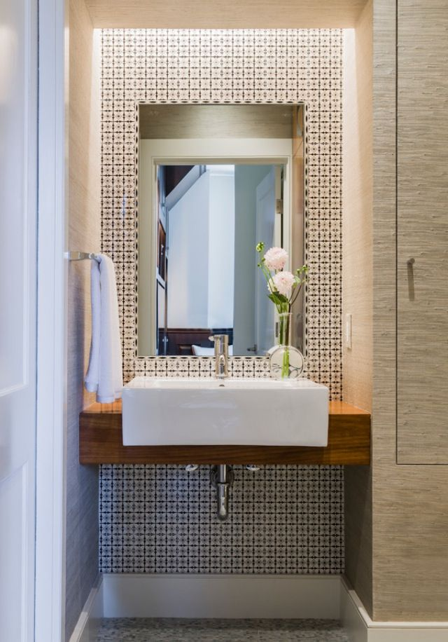 Modern Half Bathroom Design modern half bath / powder room | modern minimal home | pinterest