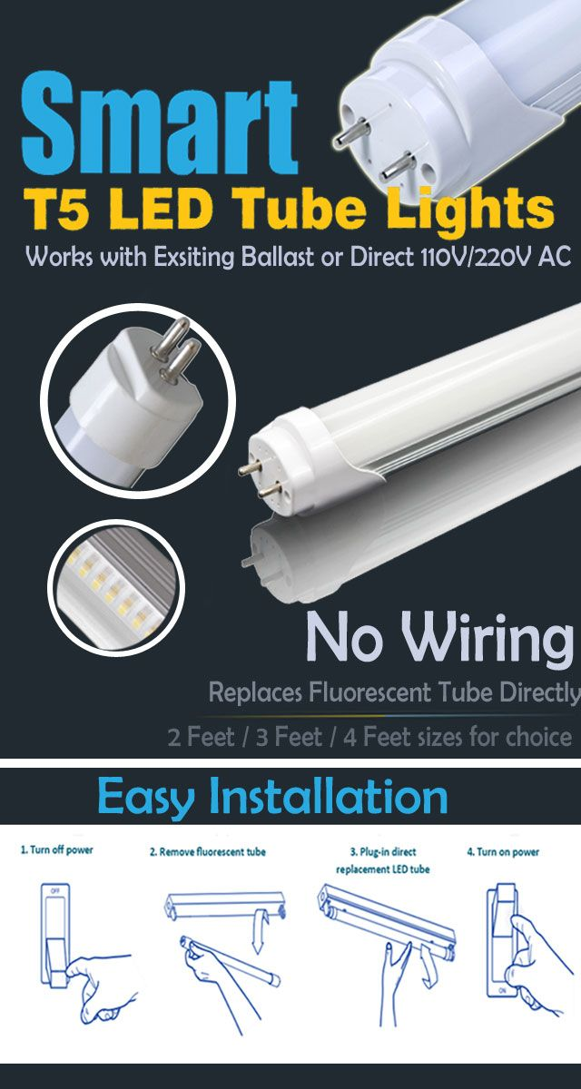 Hot Item Recomended Smart T5 Led Tube Lights No Wiring Without Changing Fixtures Replaces Fluorescent Tub Led Tubes Led Tube Light Fluorescent Tube