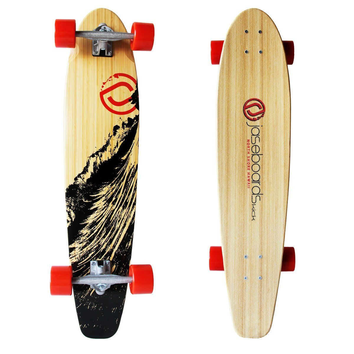 Amazon.com : Jaseboards **SURPLUS** 38'' Kicktail Bamboo Longboard : Sports & Outdoors