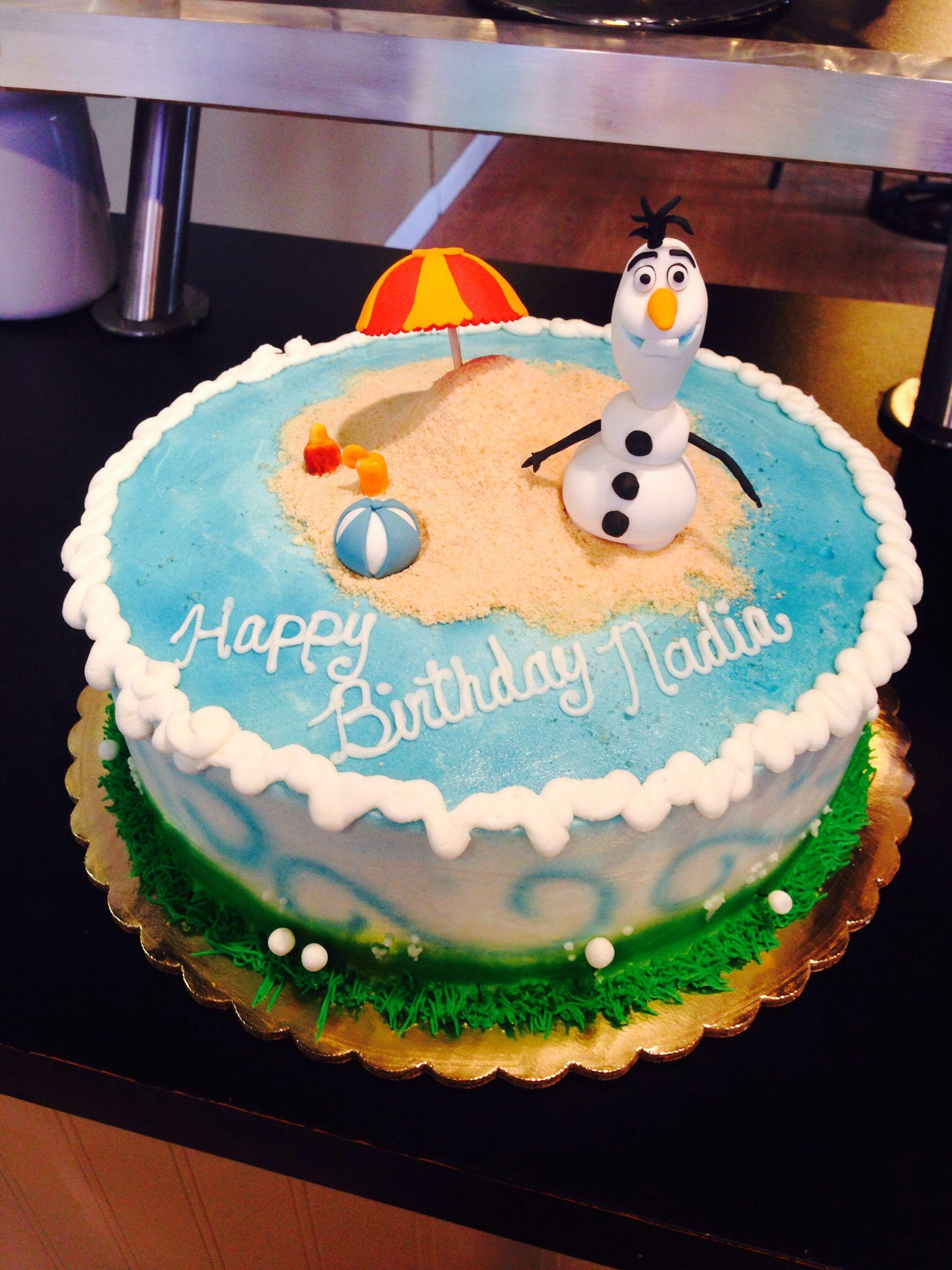 Olaf In Summer Cake Enchantingcake