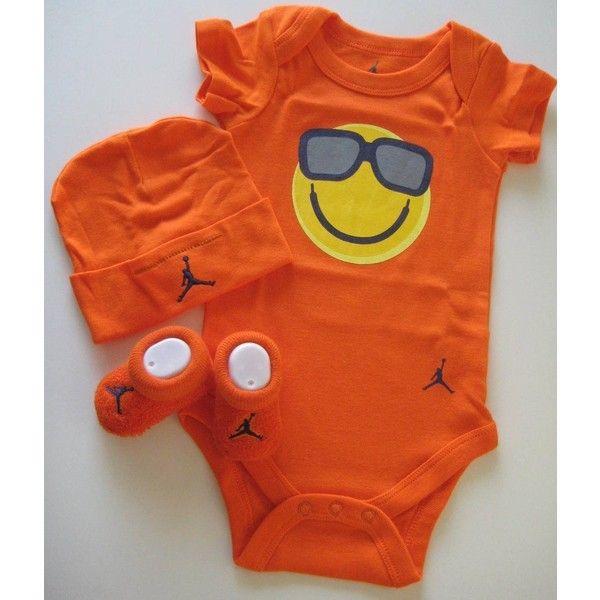 Nike Jordan New Born Baby Boy/Girl Bodysuit, Booties and Cap 0-6