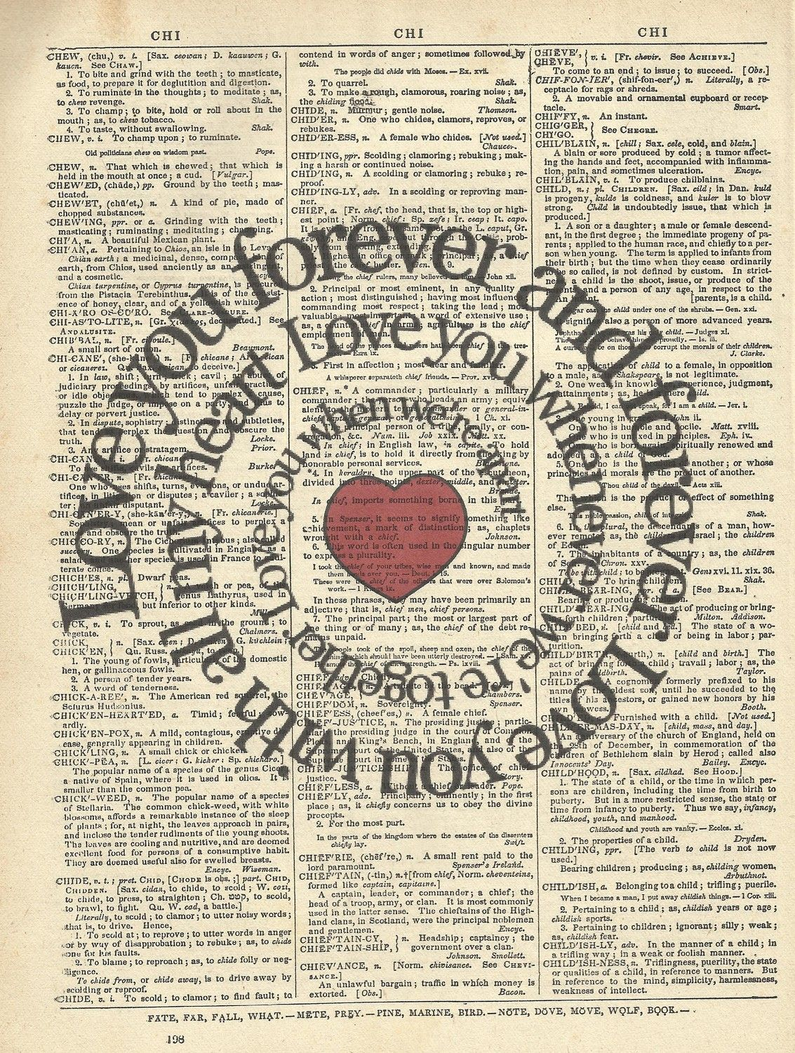 Next To me Vintage Heart Song Lyric Quote Print