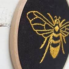 bee embroidery patterns - Google Search