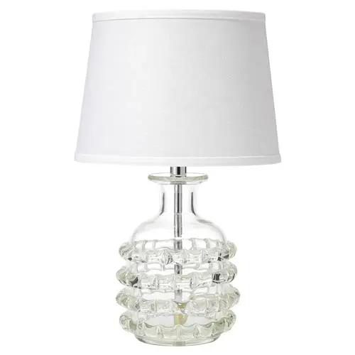 Sally Coastal Beach White Linen Shade Clear Glass Table Lamp Glass Table Lamp Table Lamp Lamp