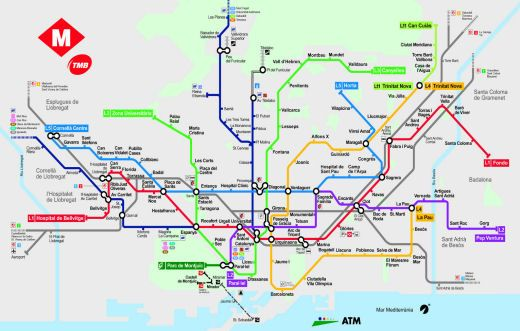 Subway Barcelona Map