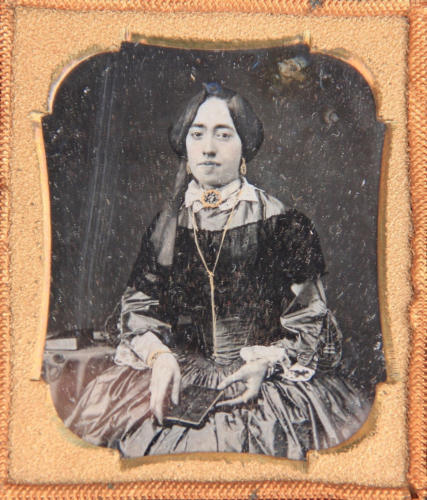 1850s Ambrotype Daguerreotype of Same Woman in Thermoplastic Gutta Percha Case | eBay