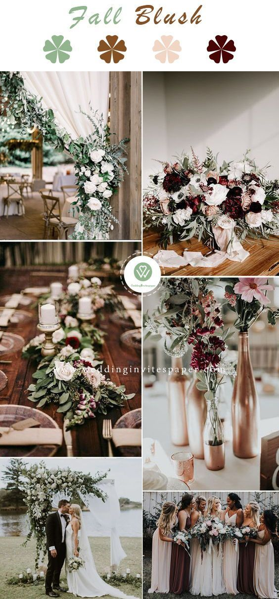 27 Rustic Wedding Decorations You Must Have A Look—sage greene and rose gold f… | Wedding Flower