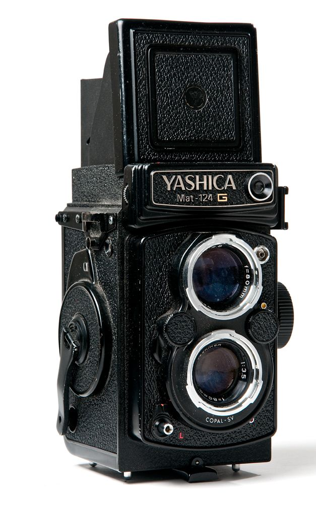 Yashica Mat twin lens camera.