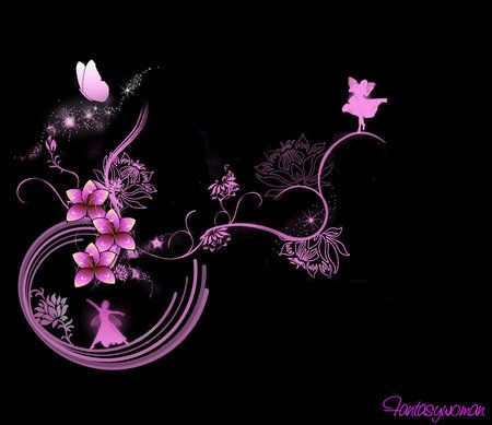 pink fantasy flower wallpaper - Google Search