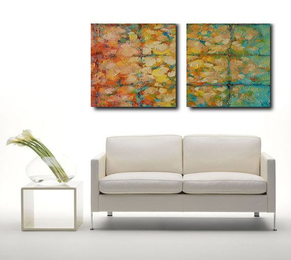 Abstract Acrylic diptych panel Painting by avaavadonstudio on Etsy
