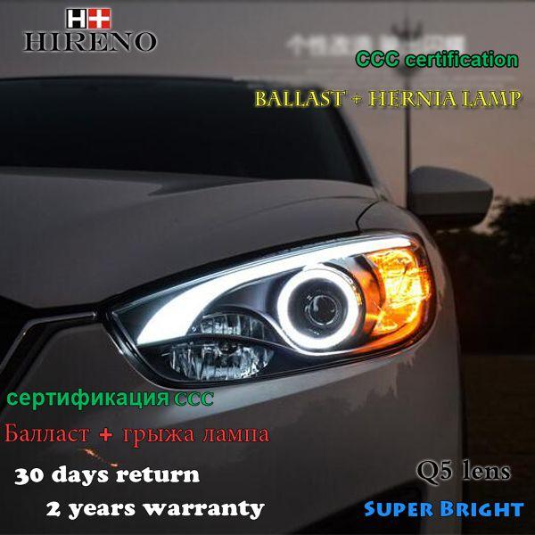 Hireno Headlamp For 2012 2016 Mazda Cx 5 Headlight Assembly Led Drl Angel Lens Double Beam Hid Xenon 2pcs Headlight Assembly Hid Xenon Mazda
