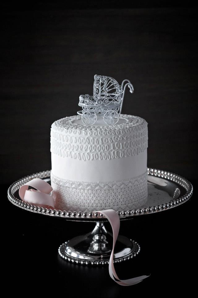 lace cart cake