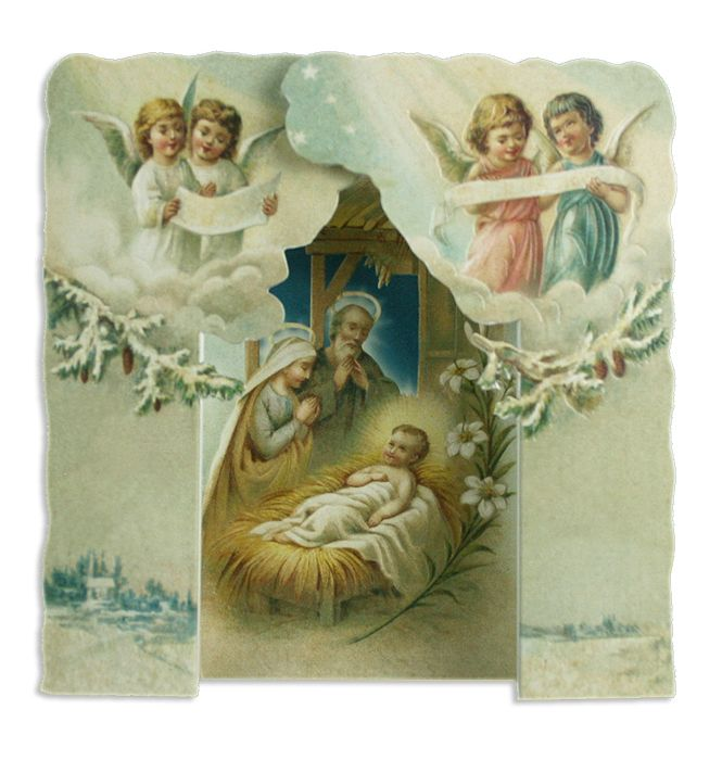 Standing nativity card from England | Christmas | Pinterest ...