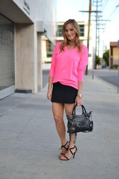 One idea on how to wear a neon pink shirt. | Balenciaga ...