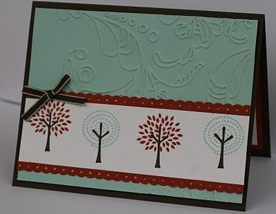 Masculine Birthday Card Trendy Trees From Stampin Up Details And Pics