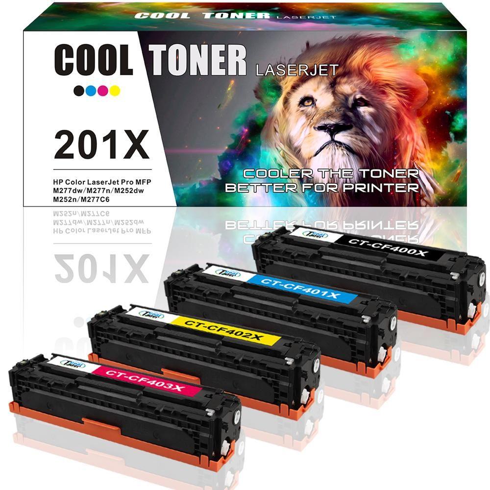 Cool Toner 4 Pack Kompatibel Toner Fur Hp 201a 201x Cf400x Cf401x Cf402x Cf403x Fur Hp Color Laserjet Pro Mfp M277dw Toner Mfp M277 Hp M252n M252dw Toner Hp Mf Toner