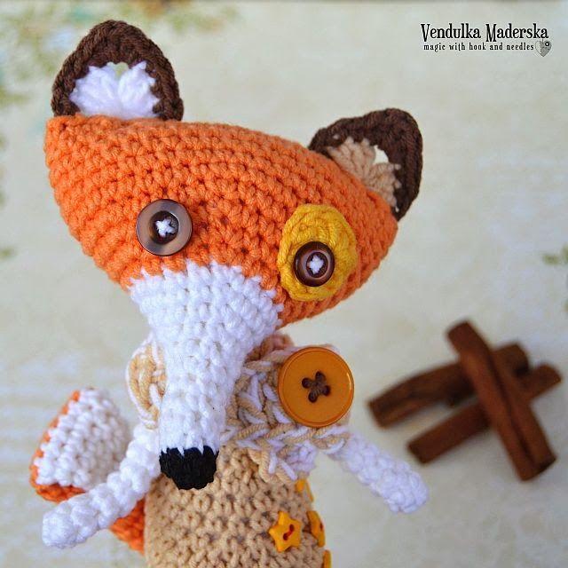 crochet zorro patrón | CROCHET PARA LA CASA | Pinterest | Patrones ...