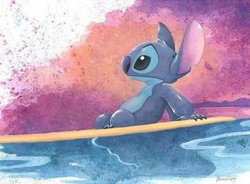 Stitch On Surfboard Disney Canvas Stitch Disney Disney