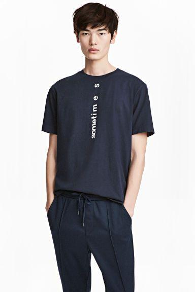Camiseta - Azul oscuro - HOMBRE | H&M ES