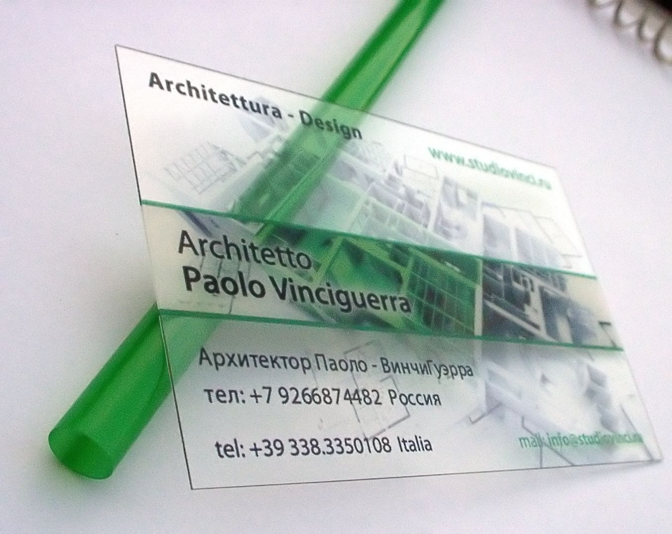 clear plastic business cards architect - http://www.bce-online.com ...
