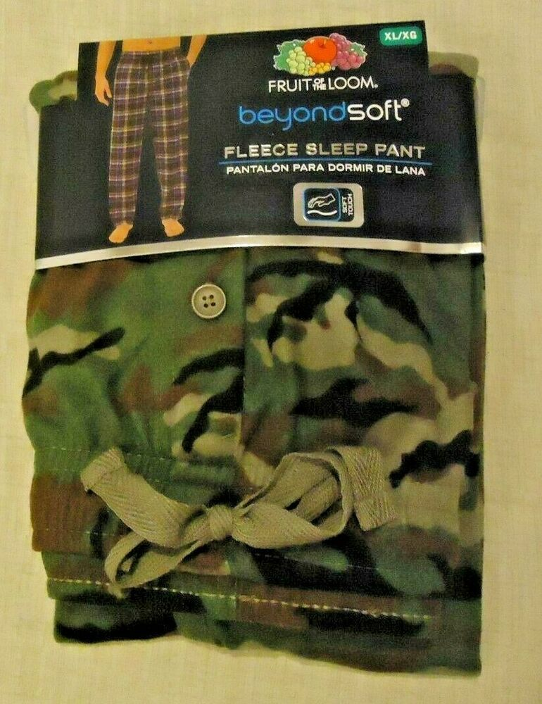44c30539134 Men s Fruit of the Loom Beyond Soft Fleece Lounge Pajama Pants Size XL (40-