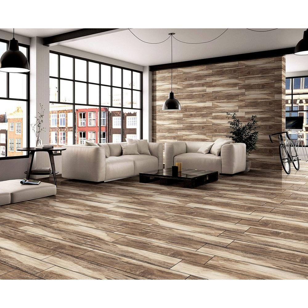 Chesterfield brown wood plank ceramic tile 6in x 36in chesterfield brown wood plank ceramic tile 6in x 36in 100213131 floor doublecrazyfo Gallery