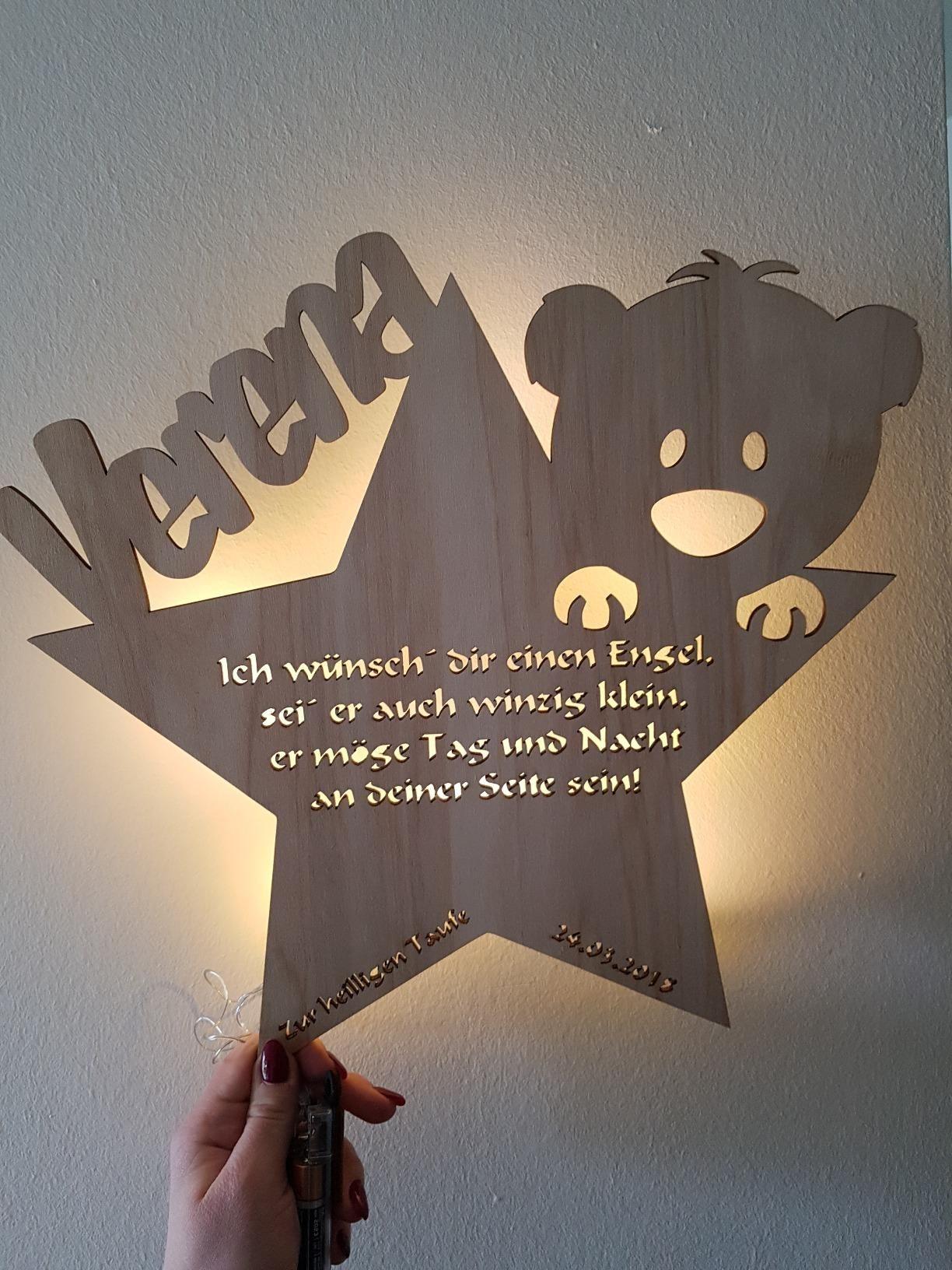 Schlummerlicht24 Led Nachtlicht Baby Lampe Teddy Stern Baby Geschenke Zur Taufe Mit Namen Tauf Spruch Gravur Personalisi Geschenk Taufe Taufgeschenke Zur Taufe