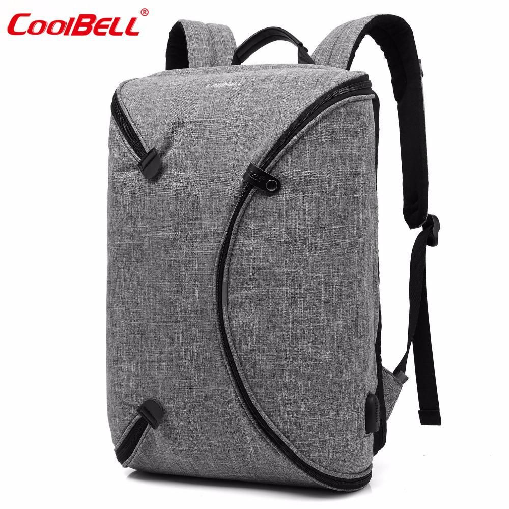 Coolbell Brand 15 6 Inch Men Laptop Backpack Bag With Usb Port Personalized Foldable Travel Backpack Waterproof Notebook Bag Yesterday S