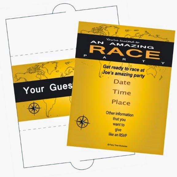 Friday Freebie Amazing Race Party Invitation Amazing Race Party Race Party Amazing Race
