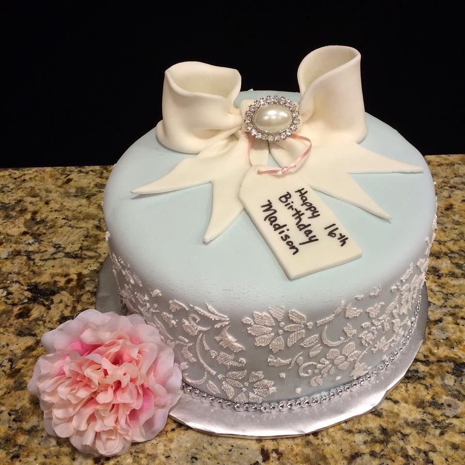 Birthday Cake Bow Stencil Fondant Elegant