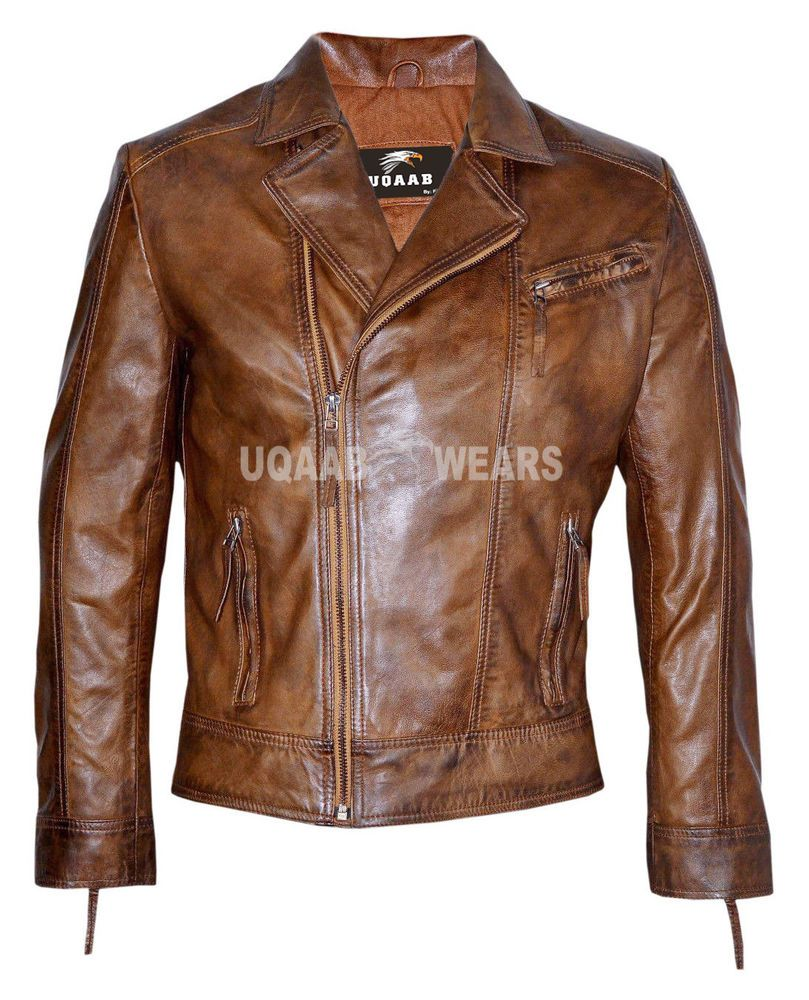 068ad66eb Details about Mens Retro Bomber Classic Soft Italian Leather Jacket ...