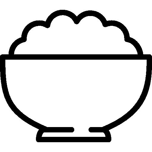 Bowl Of White Rice Free Vector Icons Designed By Freepik Farm Logo Design Bowl Logo Icon Design