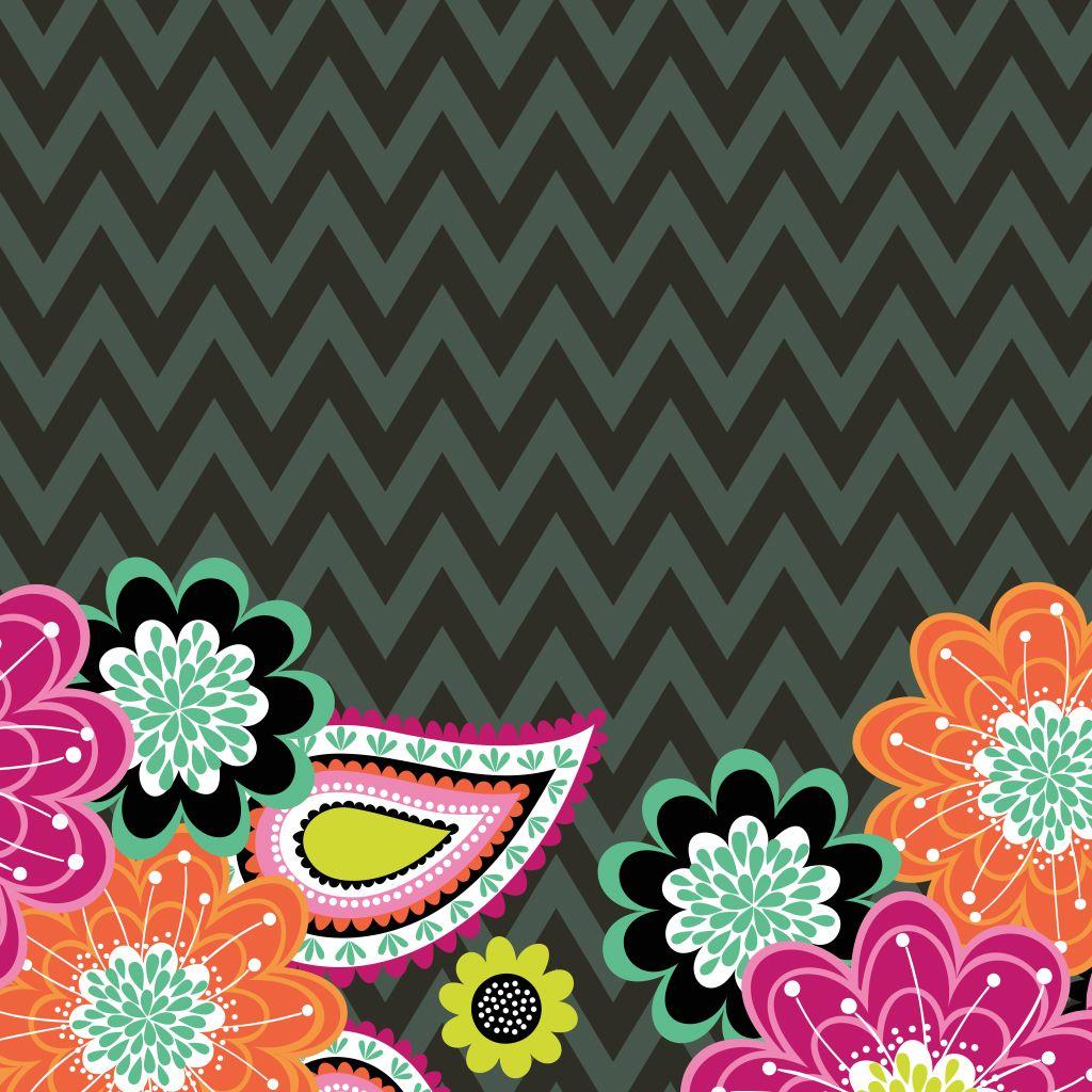 Vera bradley shower curtain - Dress Your Tech Ziggy Zinnia Tablet Wallpaper Vera Bradley