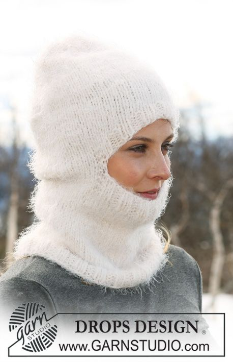 "DROPS 116-26 - Knitted DROPS hood in ""Symphony"". - Free pattern by ..."
