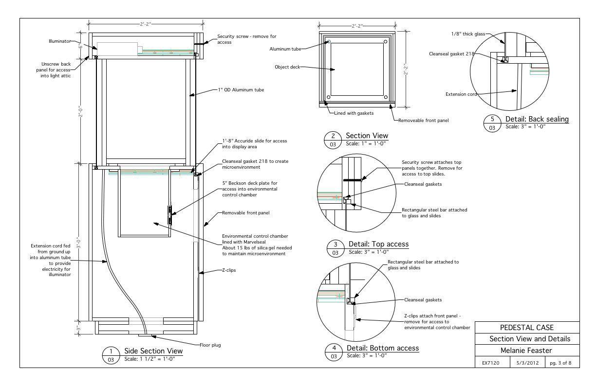 Pedestal Case On Corcoran Portfolios Pedestal Case Display Case