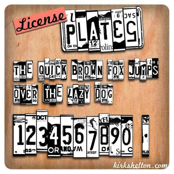 Licence Plates Font Lettering Fonts Word Fonts Lettering