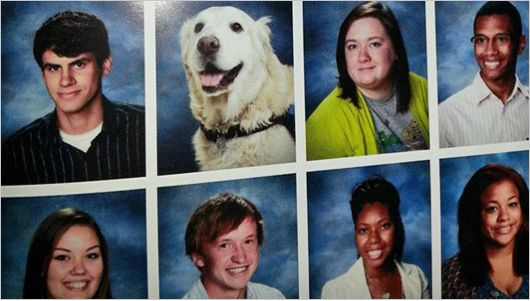 Prince was also pictured with the seniors in the Portage, Indiana high school year book.