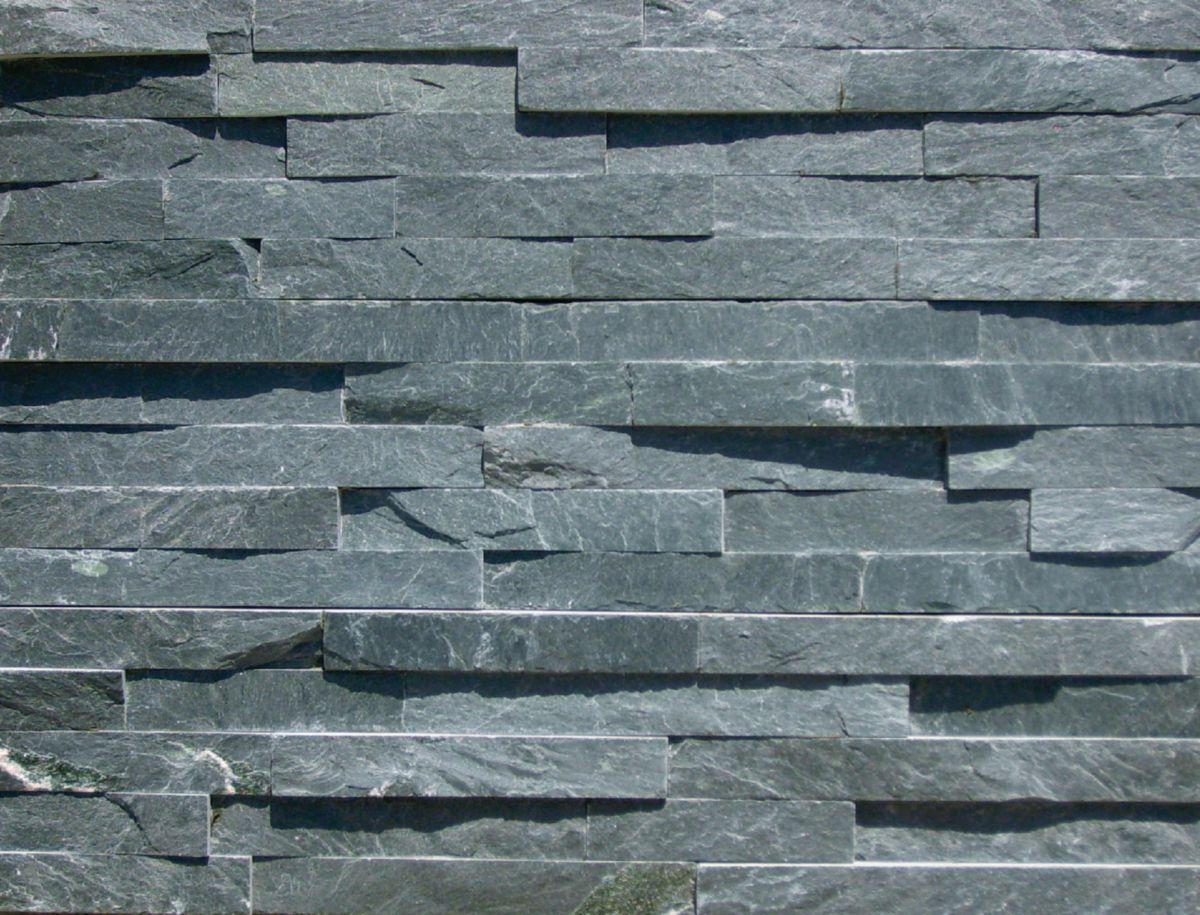 Plaquette Pierre Naturelle Ardoise parement mural pierre naturelle ardoise noir - plaquette