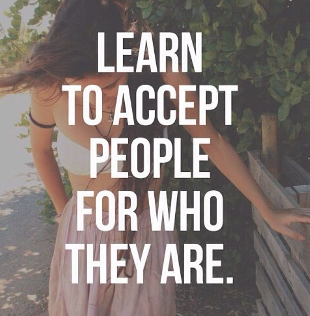 Accept people