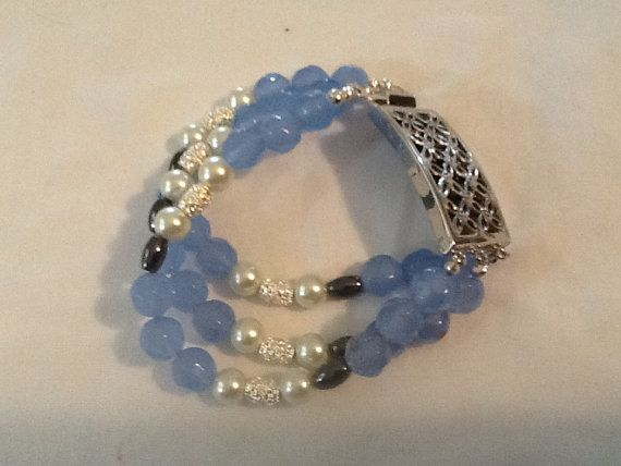 Hey, I found this really awesome Etsy listing at https://www.etsy.com/listing/191244241/light-blue-and-pearl-multi-strand