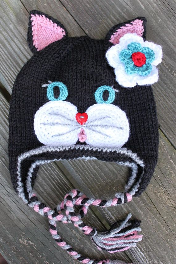 Cat Hat Pattern Is Not Free Gorrita Pinterest Cat Crochet