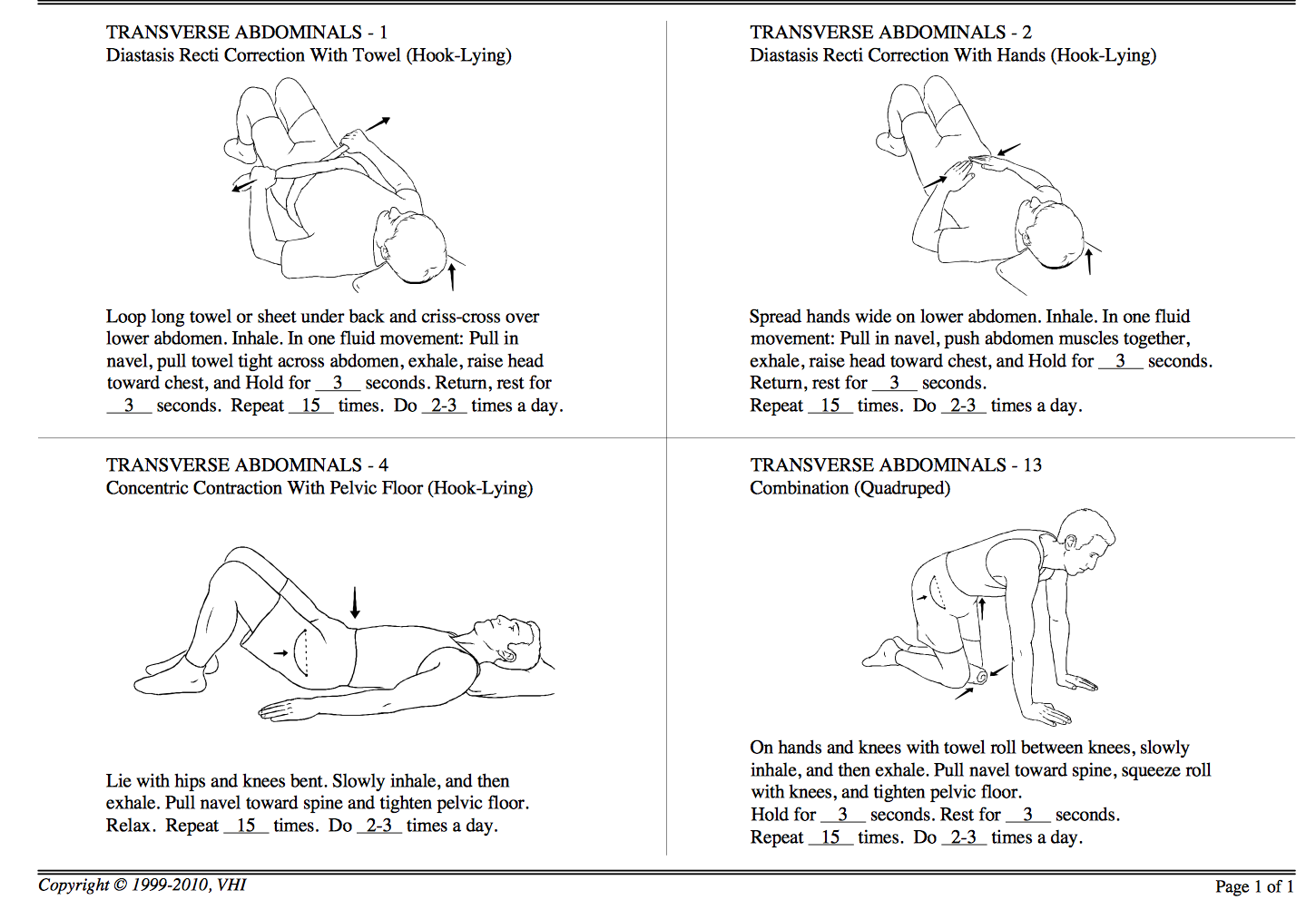 Physical therapist recommended exercises for healing ...