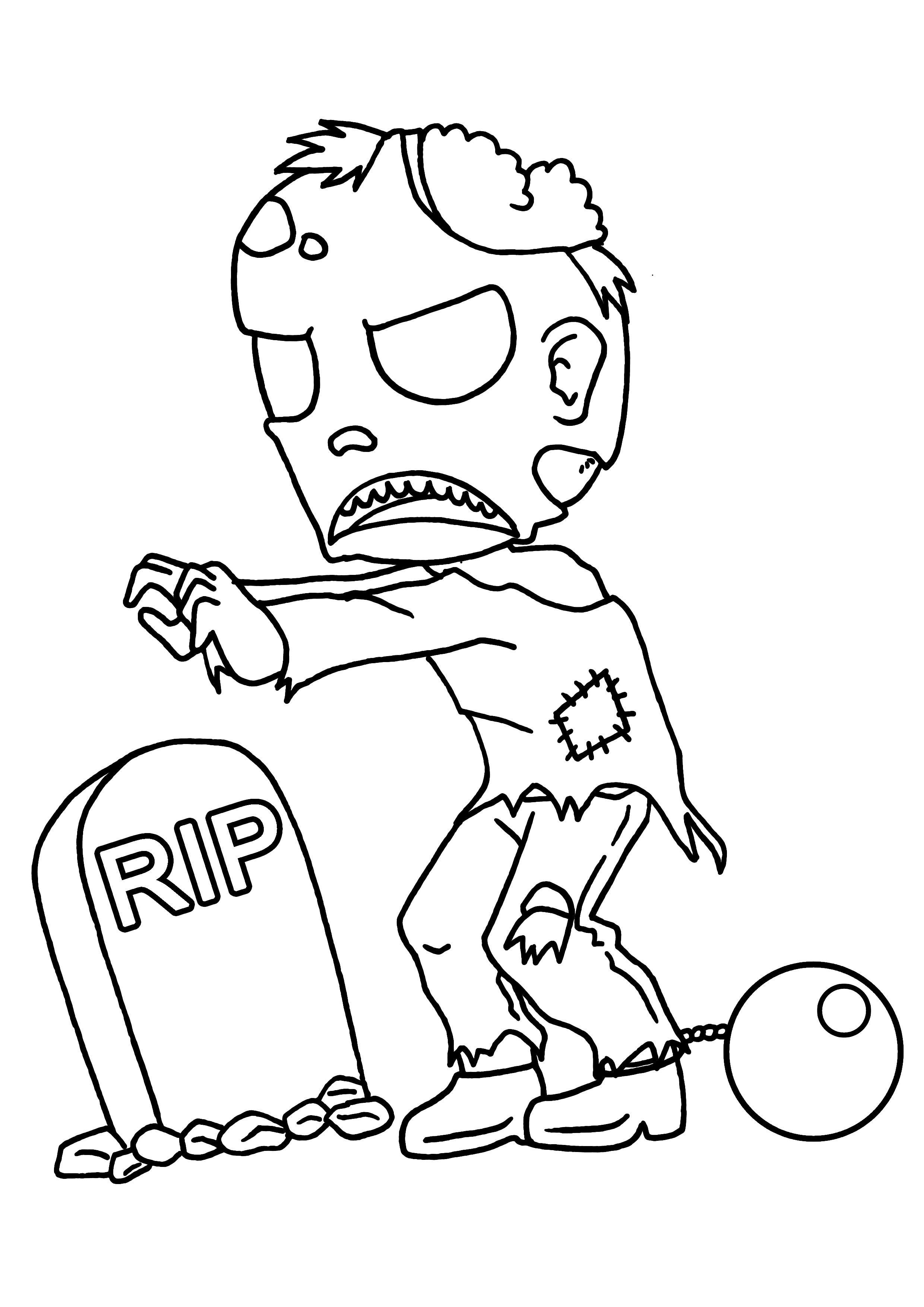 dessin a colorier pour halloween Simple, Character